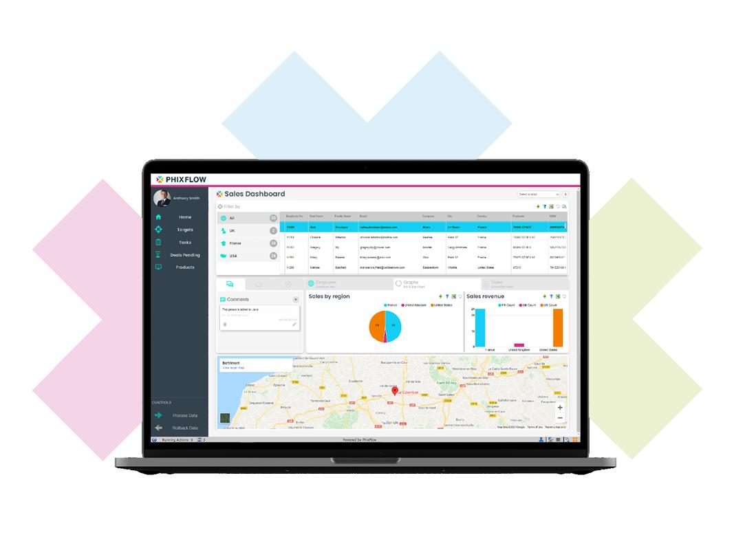 Create powerful Data Analytics Applications with PhixFlow Low-Code platform