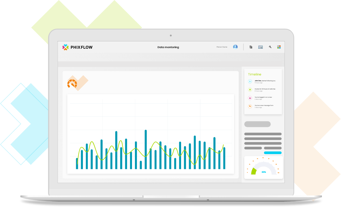 PhixFlow Low-Code: Monitor every step of your business processes