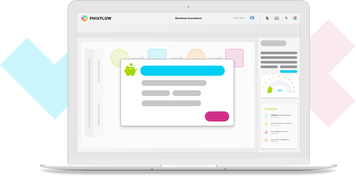 Create your own revenue assurance framework using the PhixFlow Low-Code